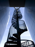 Spiral Staircase Outside Perlan, a Modern Building Housing the Saga Museum, Reykjavik, Iceland Photographic Print by Lee Frost