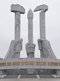 Monument to Party Foundation, Pyongyang, North Korea, Asia Photographic Print by Michael Runkel