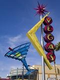 Historic Oscar's Martini Neon Sign on Fremont Street, Las Vegas, Nevada Photographic Print by Richard Cummins