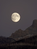 The Moon Rising, Glacier National Park, Montana, USA Photographic Print by James Hager