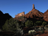 The Sandstone Spire of Castleton Tower Dominates the Castle Valley, Near the Colorado River, Utah Photographic Print by David Pickford
