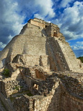 Pyramid of the Magician, Mayan Archaeological Site, Uxmal, Yucatan State, Mexico Photographic Print