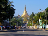 World Famous Shwedagon, Yangon, Myanmar, Asia Photographic Print by Michael Runkel