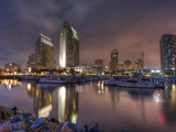 San Diego Marina and Skyline at Dusk, California, United States of America, North America Photographic Print by Sergio Pitamitz