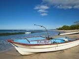 Fishing Boats on Playa Pelada, Nosara, Nicoya Peninsula, Guanacaste Province, Costa Rica Photographic Print by Robert Francis