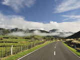 Road and Farmland, Near Matawai, Gisborne, North Island, New Zealand, Pacific Photographic Print by Jochen Schlenker