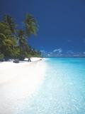 Desert Island, Baa Atoll, the Maldives, Indian Ocean, Asia Photographic Print by Sakis Papadopoulos