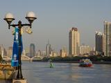 Riverscape, Guangzhou, Guangdong, China, Asia Photographic Print by Charles Bowman