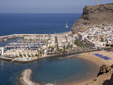 Puerto and Playa Mogan, Grand Canary, Canary Islands, Spain, Atlantic, Europe Photographic Print by Rolf Richardson