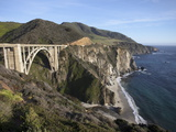 Bixby Bridge, Along Highway 1 North of Big Sur, California, United States of America, North America Photographic Print by Donald Nausbaum