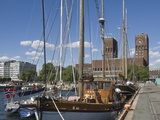 Tall Ships Anchored in Oslo Harbour, the Town Hall in the Background, Oslo, Norway Photographic Print by James Emmerson