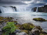 Godafoss Waterfall (Fall of the Gods), Between Akureyri and Myvatn, (Nordurland), Iceland Photographic Print by Patrick Dieudonne