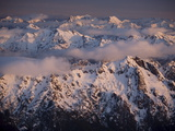 Aerial Landscape, Olympic Mountains, Olympic National Park, Washington State, USA Photographic Print by Colin Brynn