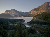 Dawn at Swiftcurrent Creek, Glacier National Park, Montana, USA Photographic Print by James Hager