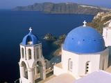 Oia (Ia), Island of Santorini (Thira), Cyclades Islands, Aegean, Greek Islands, Greece, Europe Photographic Print by Sergio Pitamitz