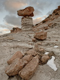 Balanced Rock in Plaza Blanca Badlands (The Sierra Negra Badlands), New Mexico Photographic Print by James Hager