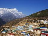 Namche Bazar, Solu Khumbu Everest Region, Sagarmatha National Park, Himalayas, Nepal, Asia Photographic Print by Christian Kober