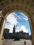 Theaterplatz From Opera House, Dresden, Saxony, Germany, Europe Photographic Print by Michael Snell