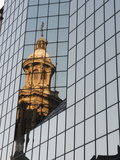 Cathedral Reflection, Plaza De Armas, Santiago, Chile, South America Photographic Print by Sergio Pitamitz