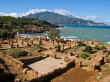 Roman Ruins of Tipasa, on the Algerian Coast, Algeria, North Africa, Africa Fotografiskt tryck av Michael Runkel