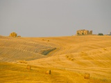 Hay Bales in Field at Sunset, Val D&#39;Orcia, Siena Province, Tuscany, Italy, Europe Photographic Print by Sergio Pitamitz