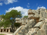 The Snake's Head in Ancient Mayan Ruins, Chichen Itza, UNESCO World Heritage Site, Yucatan, Mexico Photographic Print