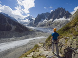 Mer De Glace Glacier, Mont Blanc Range, Chamonix, French Alps, France, Europe Photographic Print by Christian Kober