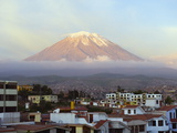 El Misti Volcano 5822M Above City, Arequipa, Peru, South America Photographic Print by Christian Kober