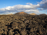 Irregular Blocky Lava and Cinder Cones of Timanfaya National Park, Canary Islands Photographic Print by Robert Francis