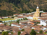 Church in the Center of El Cocuy, Colombia, South America Photographic Print by Christian Kober