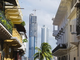 Modern Skyscrapers and Historical Old Town, UNESCO World Heritage Site, Panama City, Panama Photographic Print by Christian Kober
