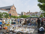 Place Du Jeu De Balle Flea Market, Brussels, Belgium, Europe Photographic Print by Christian Kober