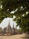 Wat Phra Si Sanphet, Ayutthaya, UNESCO World Heritage Site, Ayutthaya Province, Thailand Photographic Print by Michael Snell