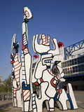 Jean Dubuffet Statue Called, Monument Au Fantome, Downtown Houston, Texas Photographic Print by Donald Nausbaum