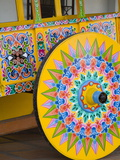 Decorative Ox-Cart in Sarchi Village, Central Highlands, Costa Rica, Central America Photographic Print by Richard Cummins