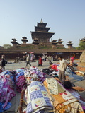 Street Market and Temple at Durbar Square, Kathmandu, Nepal, Asia Photographic Print by Christian Kober