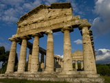 Temple of Athena, Paestum, UNESCO World Heritage Site, Campania, Italy, Europe Photographic Print by Charles Bowman