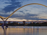 Infinity Bridge, Built in 2009, Over the River Tees, Stockton-On-Tees, County Durham, England, Uk Photographic Print by Jean Brooks