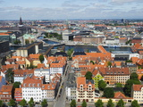 Panoramic City View, Copenhagen, Denmark, Scandinavia, Europe Photographic Print by Christian Kober