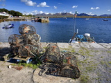 Lobster Pots at Roundstone Harbour, Connemara, County Galway, Connacht, Republic of Ireland, Europe Photographic Print by David Wogan
