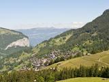 Wengen in the Lauterbrunnen Valley, Jungfrau Region, Switzerland, Europe Photographic Print by Michael DeFreitas