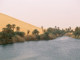 Lake, Erg Ubari, Sahara Desert, Fezzan, Libya, North Africa, Africa Photographic Print by Sergio Pitamitz