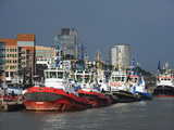 Port of Hamburg on the Elbe River, Hamburg, Germany, Europe Photographic Print by Christian Kober