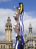 Barcelona's Head Sculpture By Roy Lichtenstein in Port Vell, Barcelona, Catalonia, Spain, Europe Photographic Print by Richard Cummins
