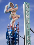 Historic Lucky Lady Neon Sign on Fremont Street, Las Vegas, Nevada Photographic Print by Richard Cummins