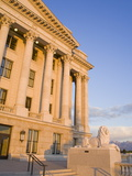 Lion Sculpture on the State Capitol Building, Salt Lake City, Utah, USA Photographic Print by Richard Cummins