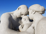 Parent and Child, Stone Sculpture By Emanuel Vigeland, Vigeland Park, Oslo, Norway, Scandinavia Photographic Print by Christian Kober
