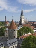 Rooftop View With Church of the Holy Ghost, Tallin, Estonia, Europe Photographic Print by James Emmerson