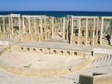 Theatre, Leptis Magna, UNESCO World Heritage Site, Tripolitania, Libya, North Africa, Africa Photographic Print by Sergio Pitamitz