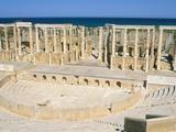 Theatre, Leptis Magna, UNESCO World Heritage Site, Tripolitania, Libya, North Africa, Africa Photographic Print by Sergio Pitamitz